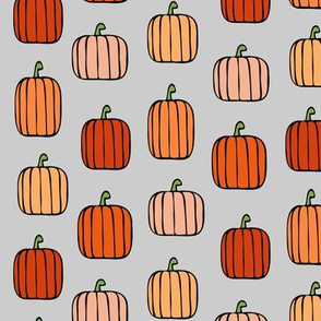 orange pumpkins - light grey