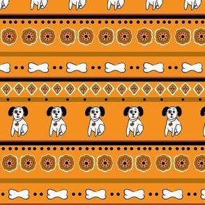 Stripes with Spots-Pumpkin