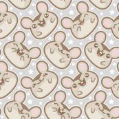 Happy Mice Ditsy Grey