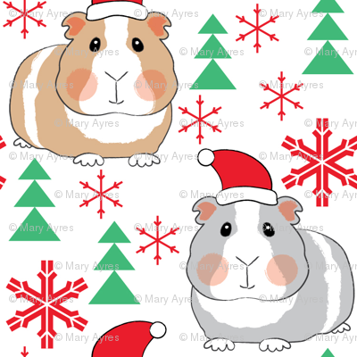 tiny christmas guinea-pigs-with-santa-hats