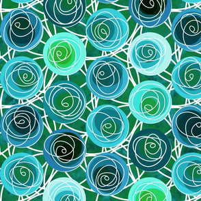 renne's roses in teal