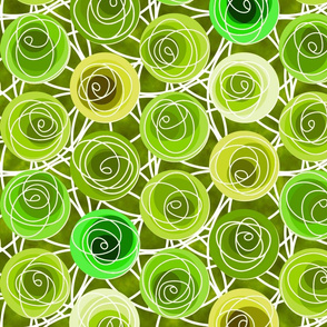 renne's roses in lime