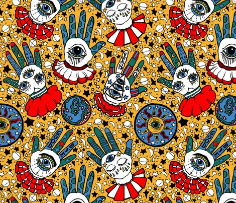 Mystic Eyes Tell My Fortune fabric by little_miss_alexandra on Spoonflower - custom fabric
