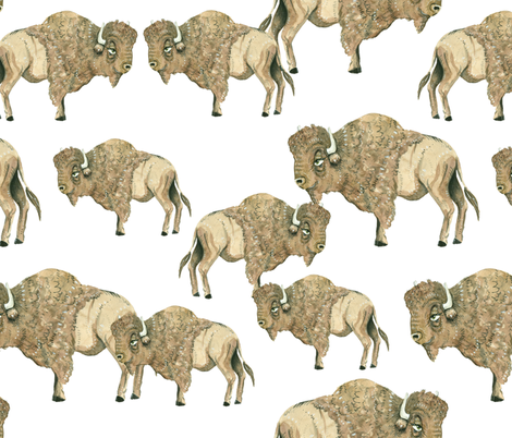 Buffalo Herd 3 fabric by taraput on Spoonflower - custom fabric