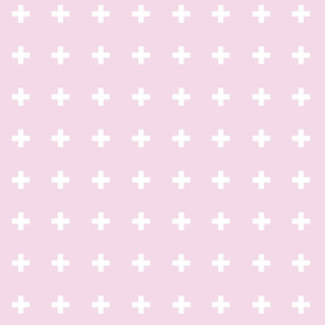 Swiss Crosses - Pretty Pink