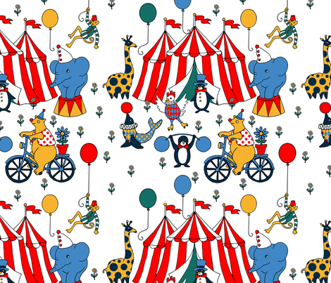 Circus  fabric by maritcooper on Spoonflower - custom fabric
