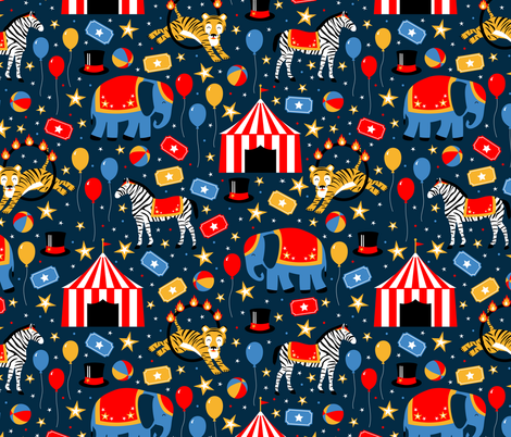 Under the Big Top fabric by robyriker on Spoonflower - custom fabric