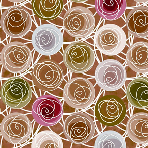 renne's roses in brown
