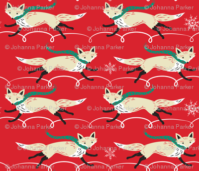 Running_Foxes_on_Red