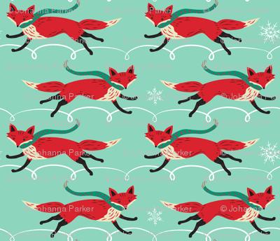 Running_Foxes_on_Aqua