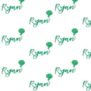 Watercolour Ryan Balloon