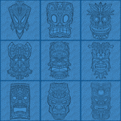 Blue_Tiki_Tile_large_grid_3000X3000_9x9_300dpi_template