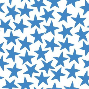 circus star fabric // circus star nursery baby design - blue