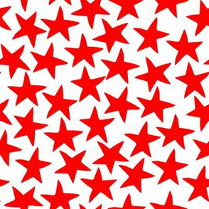 circus star fabric // circus star nursery baby design - red