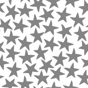 circus star fabric // circus star nursery baby design - grey