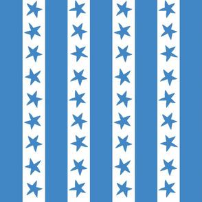 circus stripes // circus nursery baby fabric - blue