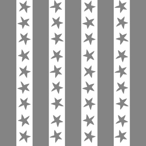 circus stripes // circus nursery baby fabric - grey