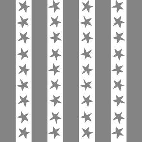 circus stripes // circus nursery baby fabric - grey