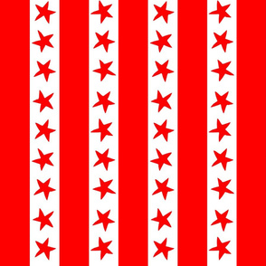 circus stripes // circus nursery baby fabric - red