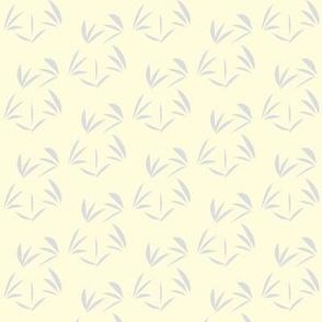 Silver Mist OrientalTussocks on Magnolia Cream - Small Scale