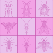 Pink Grid Bug Tile