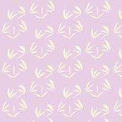 Magnolia Cream Tussocks on Spring Lilac