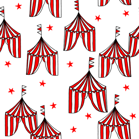 circus tent // circus tents sideshow circus nursery baby fabric - red fabric by andrea_lauren on Spoonflower - custom fabric