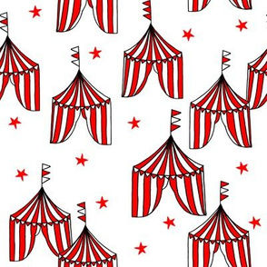 circus tent // circus tents sideshow circus nursery baby fabric - red