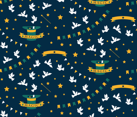 Magic fabric by bluecoin on Spoonflower - custom fabric