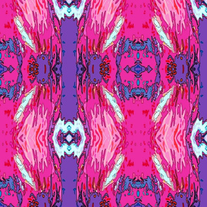 Pink Rooster Abstract