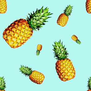 "36"" Pineapple Fabric / Light Blue"