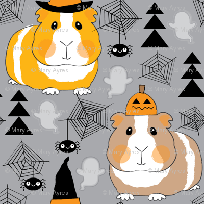 halloween guinea pigs on charcoal