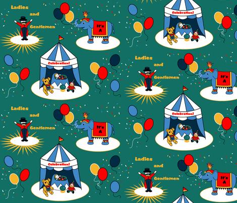 Circus Baby Shower fabric by roseivy on Spoonflower - custom fabric