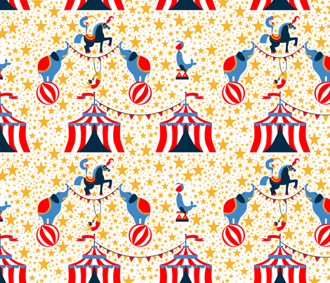 stars_circus fabric by nadja_petremand on Spoonflower - custom fabric