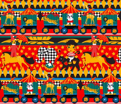 Circus Parade fabric by orangefancy on Spoonflower - custom fabric