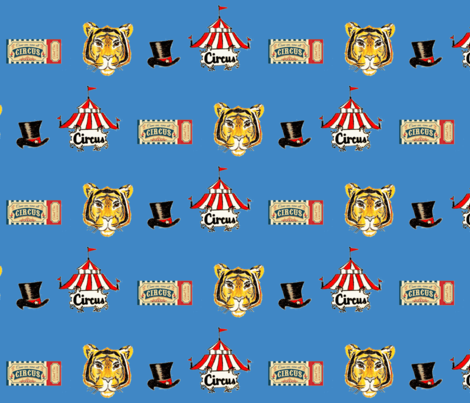 Circus fabric by calaismcneely on Spoonflower - custom fabric
