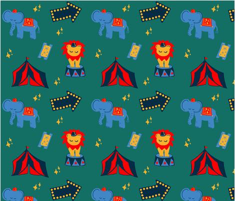 RetroCircus fabric by peachpandastudio on Spoonflower - custom fabric