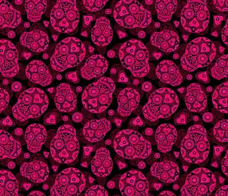 Pink Sugar Skulls fabric by elladorine on Spoonflower - custom fabric