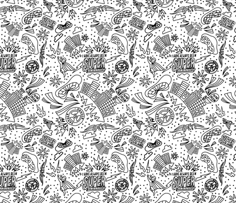 Superhero Coloring Book fabric by printablecrush on Spoonflower - custom fabric