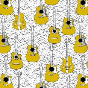 Music lovers guitar hero musical instruments gender neutral mustard yellow