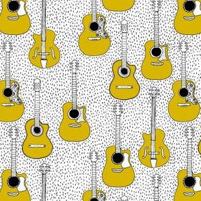 Music lovers guitar hero musical instruments gender neutral mustard yellow