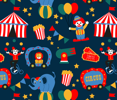 circus1 fabric by rubiks1978 on Spoonflower - custom fabric