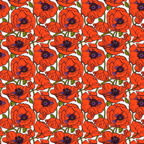Poppies Color | White