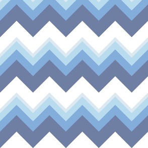 Blue Zigzag Pattern