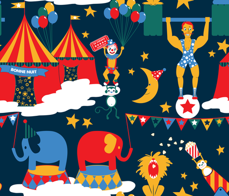 Night Circus Extra Large fabric by digitallove on Spoonflower - custom fabric
