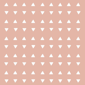 Tiny Triangles - Deco Coral