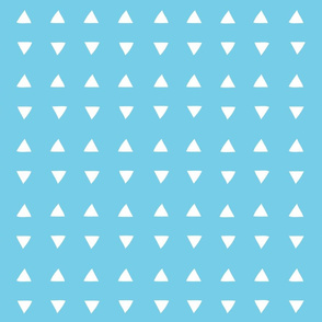 Tiny Triangles - Perfect Aqua