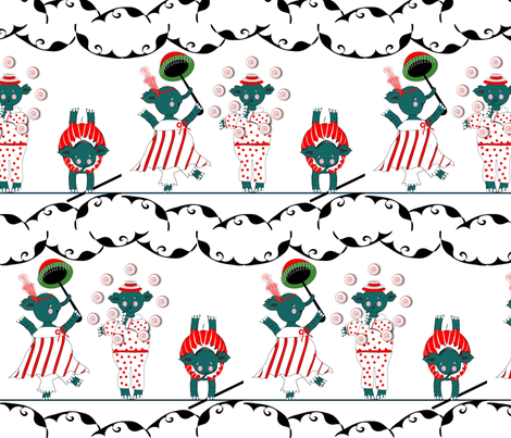 Vintage Circus Elephant Act! fabric by gracelillydesigns on Spoonflower - custom fabric