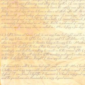 Jane Austen's letter to her sister Cassandra