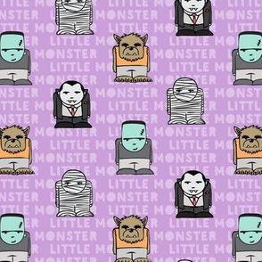 little monster - purple